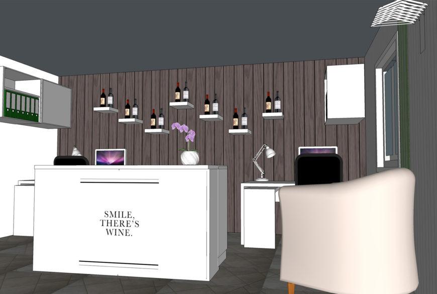 Interiors – Bureau dans le domaine du vin